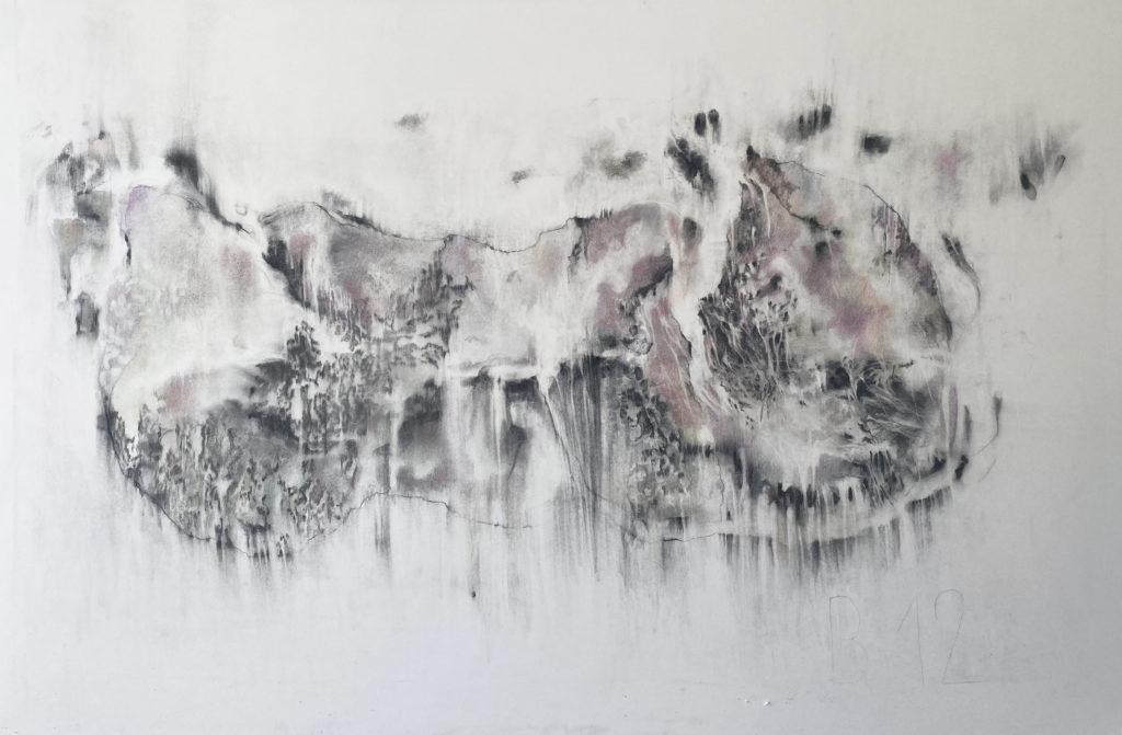 B12, fusain et crayon sur papier, 115 x 145 cm, 2020