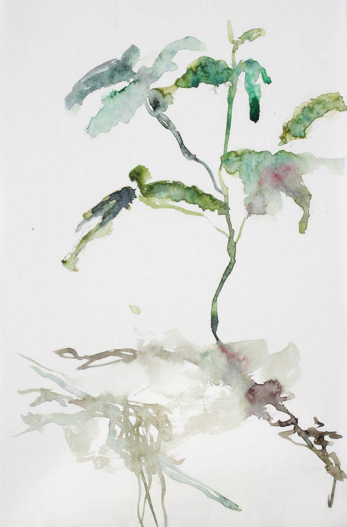 Sans titre, aquarelle sur papier japon, 36×23 cm, 2015
