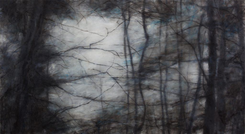 Sans titre, huile sur toile, 100×180 cm, 2016
