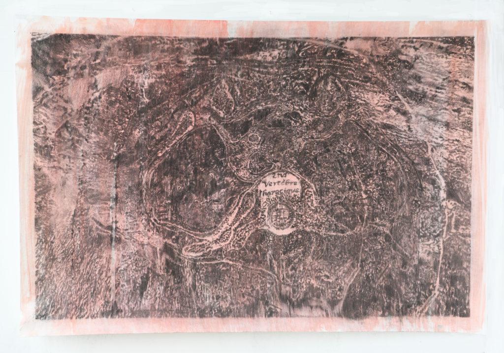 2VT, fusain et gouache, 2021, 98 x 146 cm